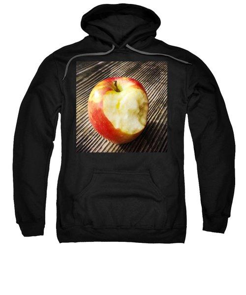 Bitten Red Apple Sweatshirt