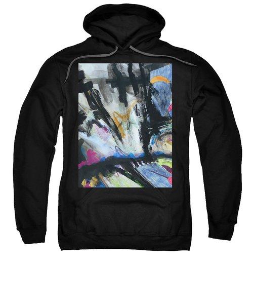 Black Abstract Sweatshirt