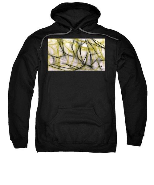 Black And Green Abstract Sweatshirt
