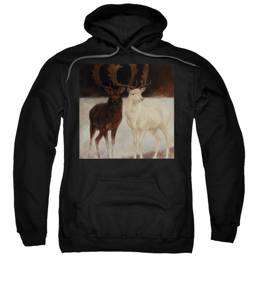 Black And White Fallow Deers Sweatshirt