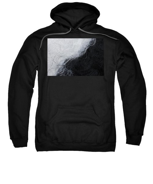 Black And White Fibers - Yin And Yang Sweatshirt