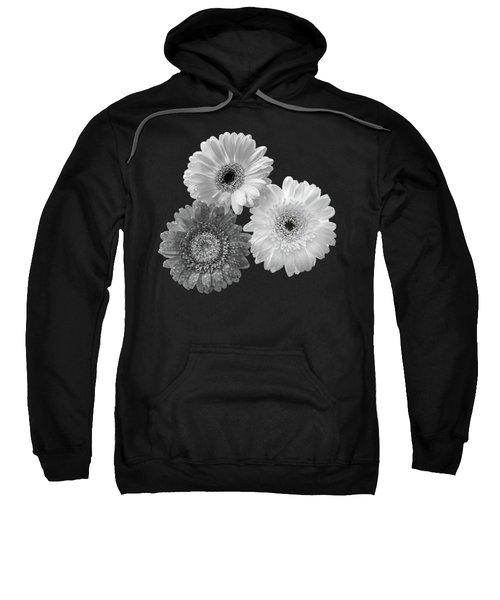 Black And White Gerbera Daisies Sweatshirt
