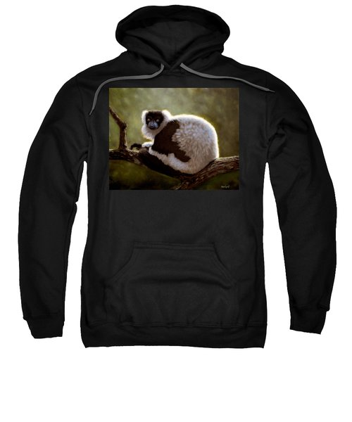 Black And White Ruffed Lemur Sweatshirt