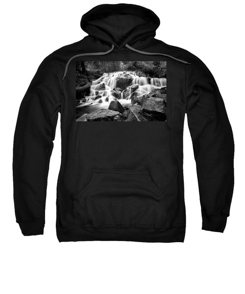 Black And White Waterfall In Lee Vining Canyon Sweatshirt