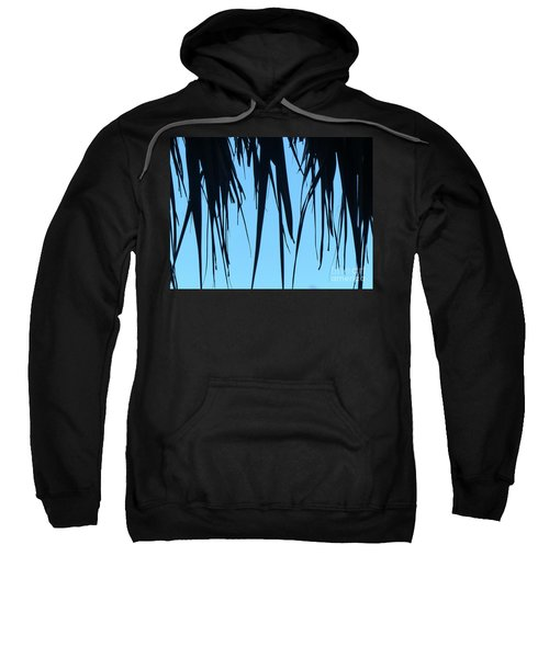 Black Palms On Blue Sky Sweatshirt