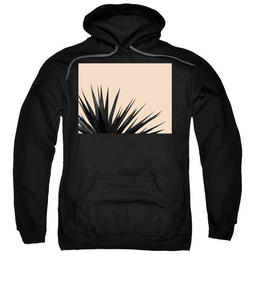 Black Palms On Pale Pink Sweatshirt