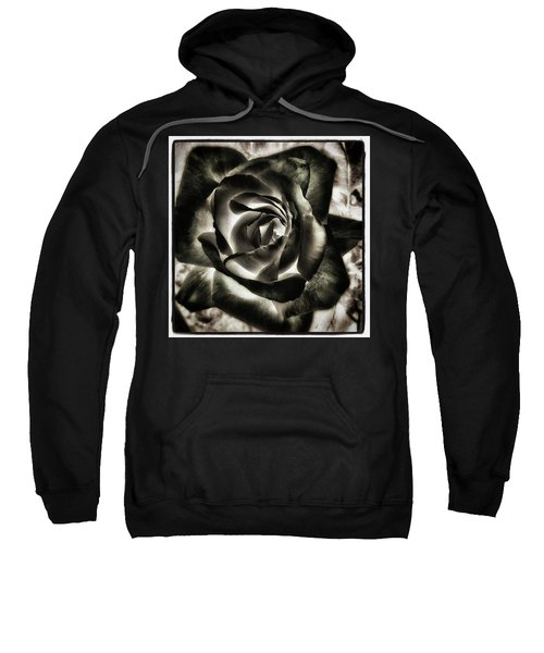 Sweatshirt featuring the photograph Black Rose. Symbol Of Farewells by Mr Photojimsf