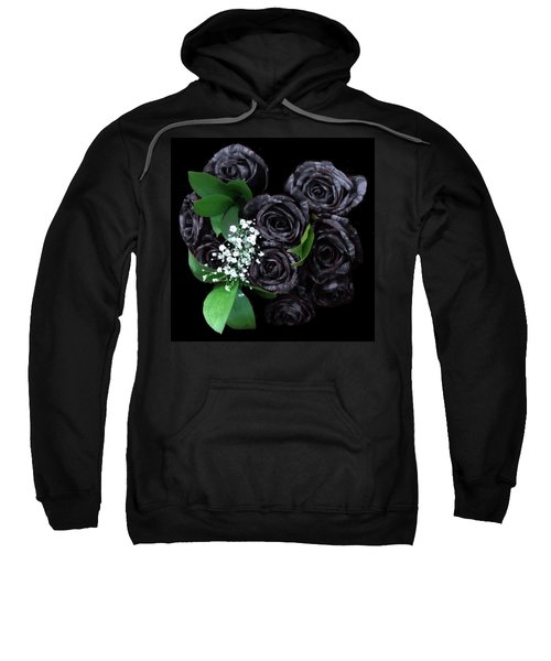 Black Roses Bouquet Sweatshirt