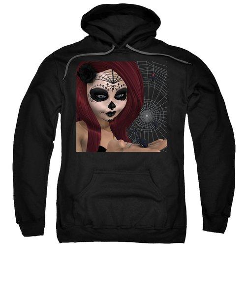 Black Widow Sugar Doll Sweatshirt by Methune Hively
