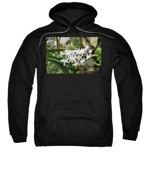Blooming White Flower Spike Sweatshirt