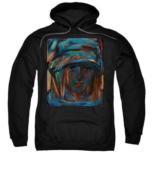 Blue Faced Girl Sweatshirt