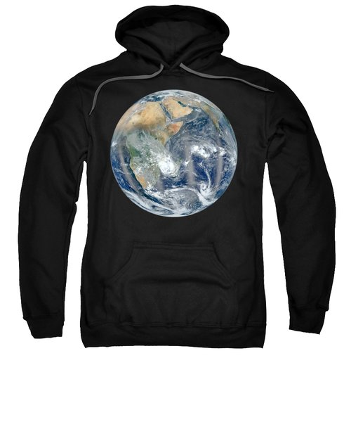 Blue Marble 2012 - Eastern Hemisphere Of Earth Sweatshirt by Nikki Marie Smith