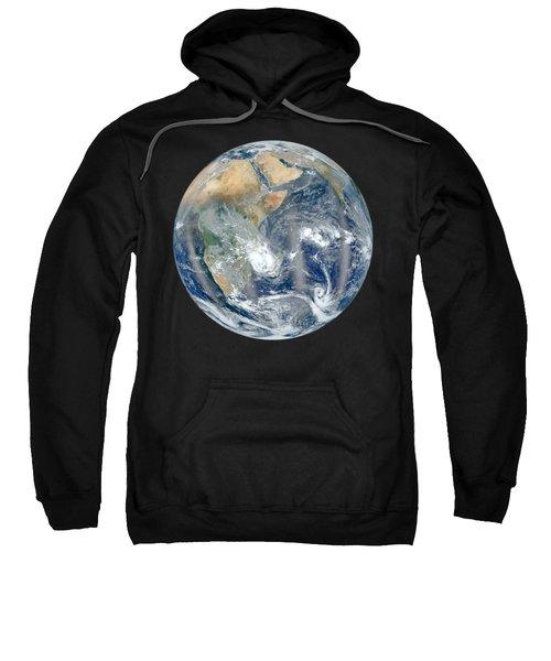 Blue Marble 2012 - Eastern Hemisphere Of Earth Sweatshirt by Nikki Marie Smith