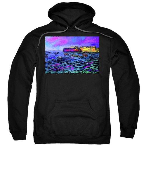 Boats In Cadiz, Spain Sweatshirt