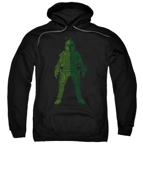 Boba Fett - Star Wars Art, Green 02 Sweatshirt