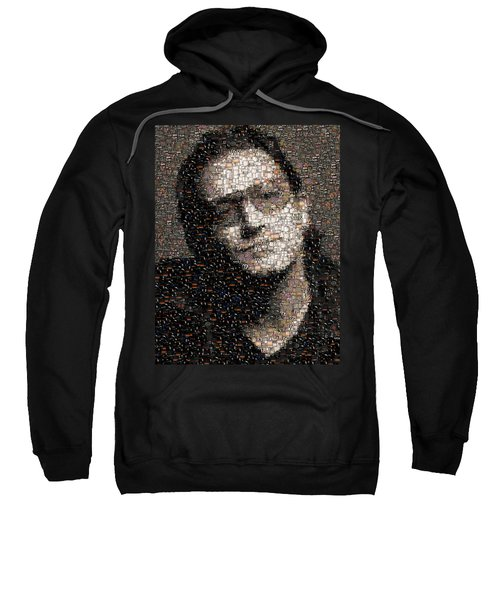Bono U2 Albums Mosaic Sweatshirt by Paul Van Scott