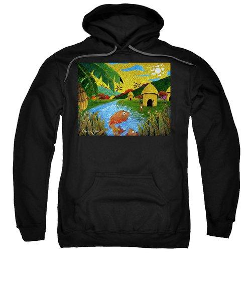 Sweatshirt featuring the painting Boriken by Oscar Ortiz