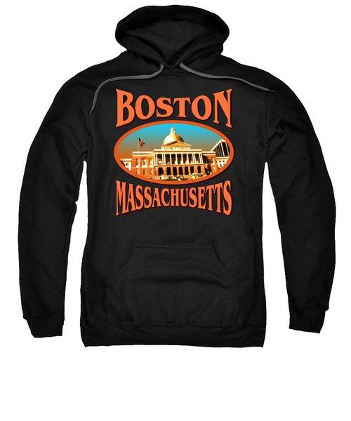 Boston Massachusetts Design Sweatshirt