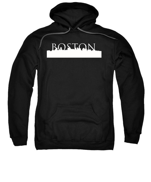 Boston Skyline Outline Logo 2 Sweatshirt by Joann Vitali