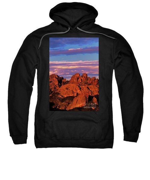 Boulders Sunset Light Pinnacles National Park Californ Sweatshirt