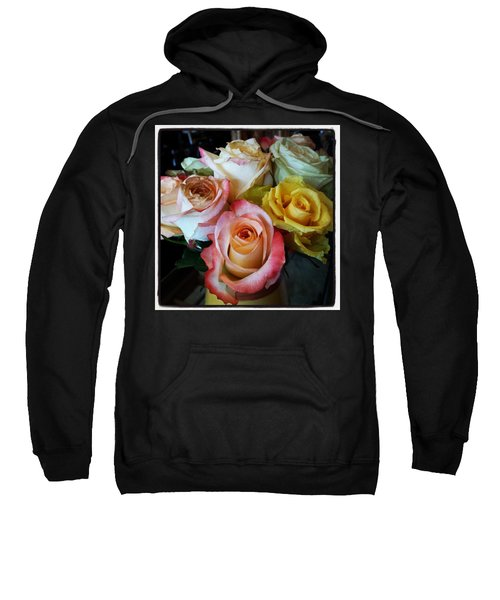Sweatshirt featuring the photograph Bouquet Of Mature Roses At The Counter by Mr Photojimsf