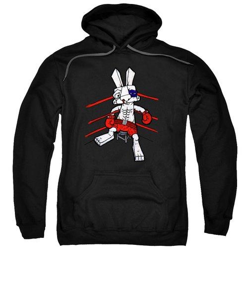 Boxer Bunny Sweatshirt by Bizarre Bunny