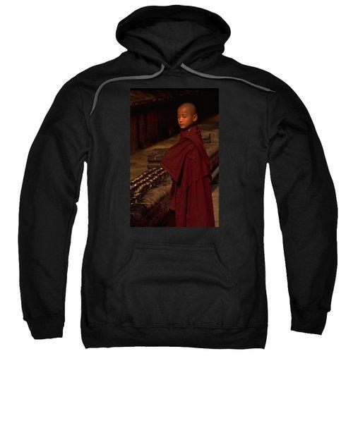Boy Buddhist In Bodh Gaya Sweatshirt