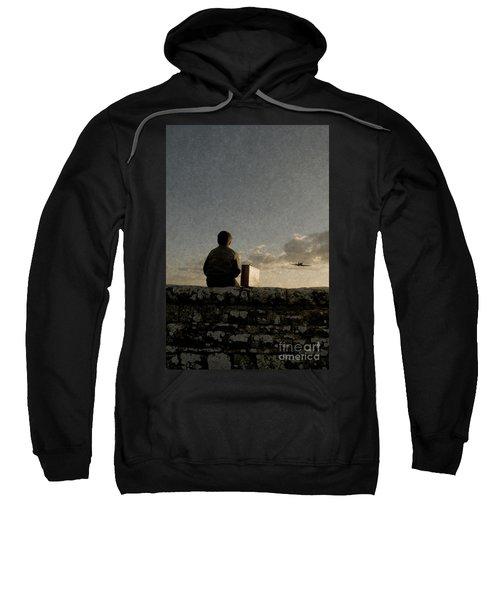 Boy On Wall Sweatshirt