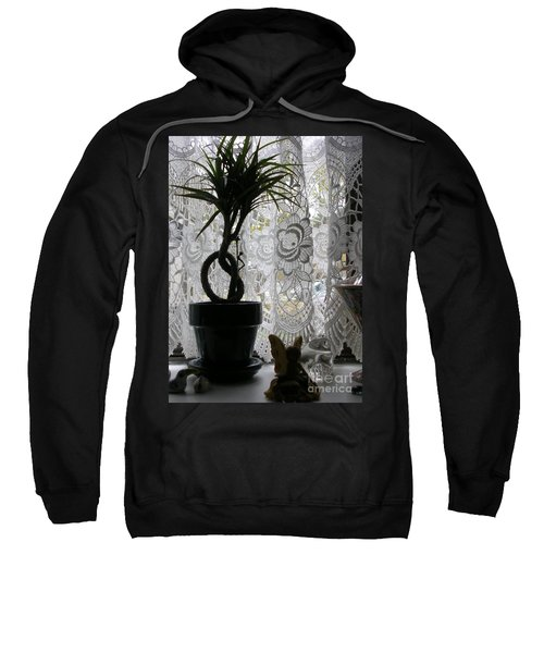 Braided Dracena On Sill Sweatshirt