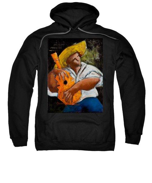 Sweatshirt featuring the painting Bravado Alla Prima by Oscar Ortiz