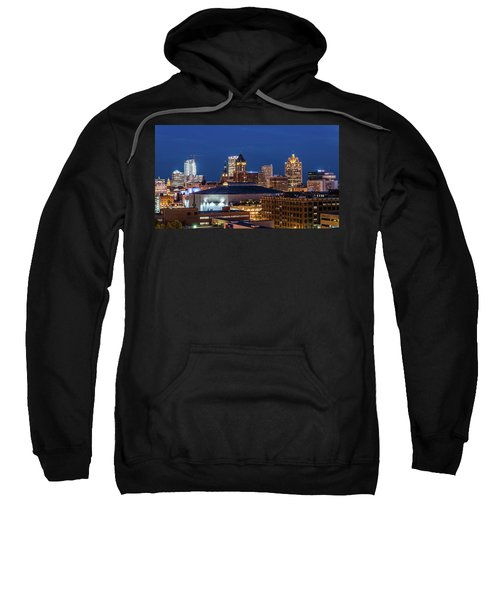 Brew City At Dusk Sweatshirt by Randy Scherkenbach