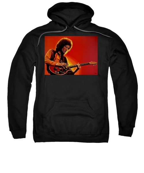 Brian May Of Queen Painting Sweatshirt