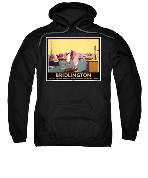 Bridlington Port, Yorkshire,great Britain, Travel Poster  Sweatshirt