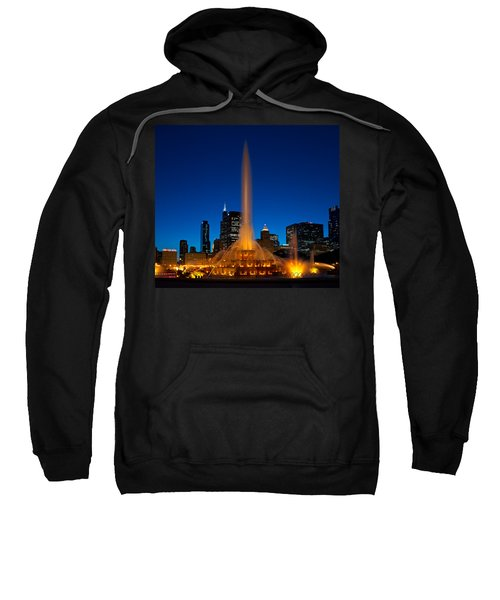 Buckingham Fountain Nightlight Chicago Sweatshirt