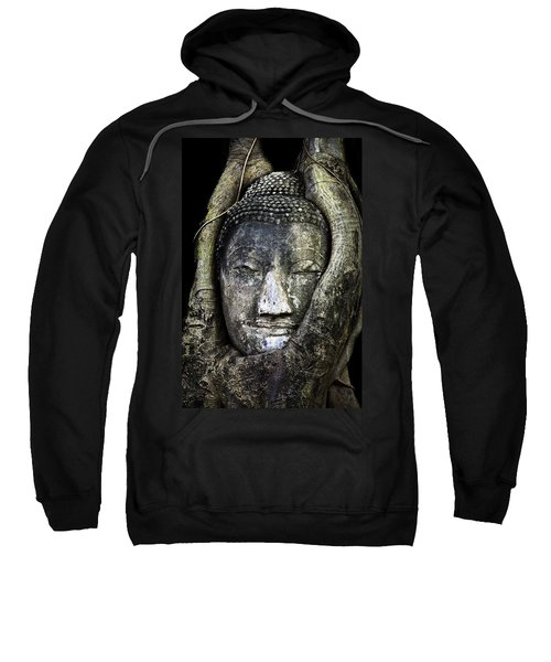 Buddha Head In Banyan Tree Sweatshirt