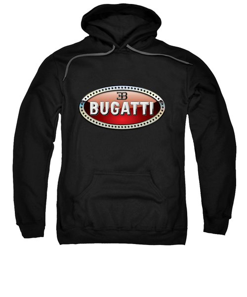 Bugatti - 3 D Badge On Black Sweatshirt by Serge Averbukh