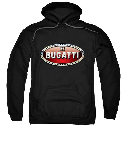 Bugatti - 3 D Badge On Black Sweatshirt