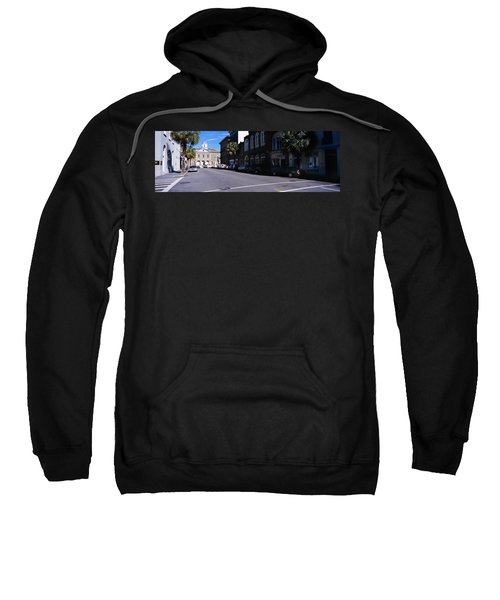 Buildings On Both Sides Of A Road Sweatshirt