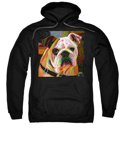 Bulldog Surreal Deep Dream Image Sweatshirt by Matthias Hauser
