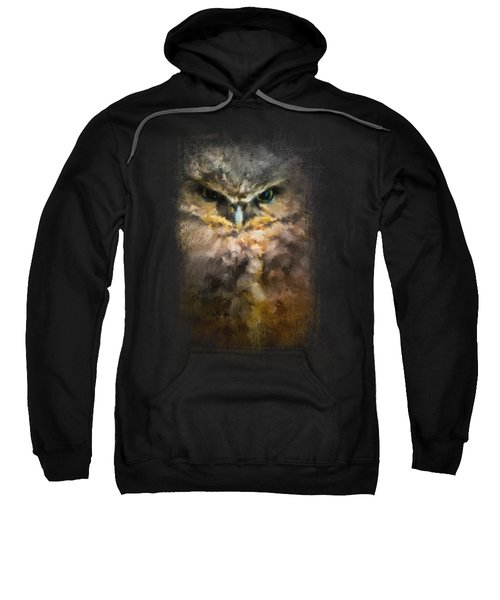 Burrowing Owl Sweatshirt by Jai Johnson