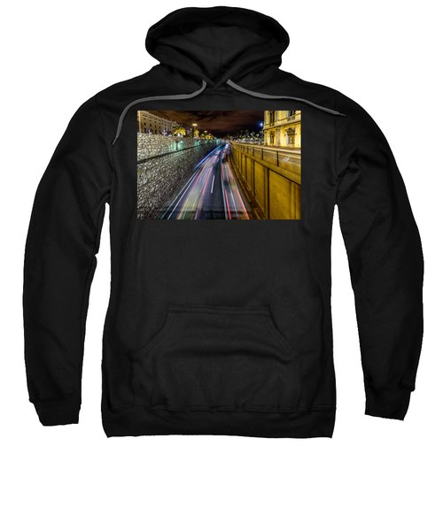 Busy Night In Barcelona Sweatshirt by Randy Scherkenbach