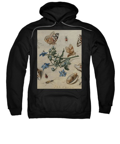 Butterflies, Clams, Insects And Flowers Sweatshirt