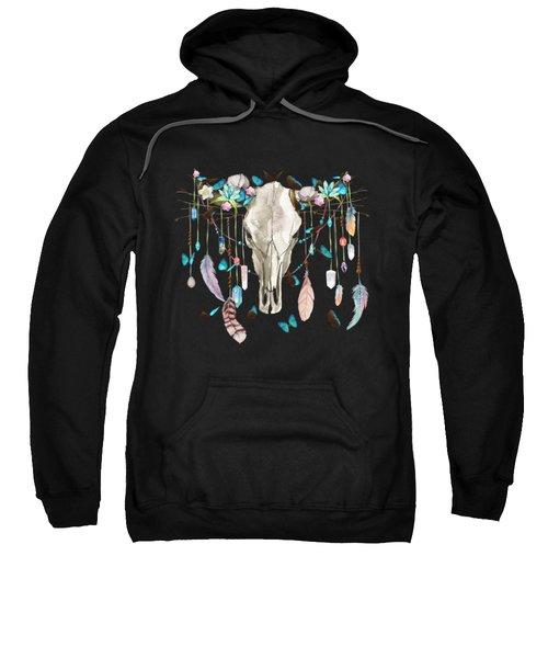 Butterfly Cow Skull Spirit Gazer Sweatshirt