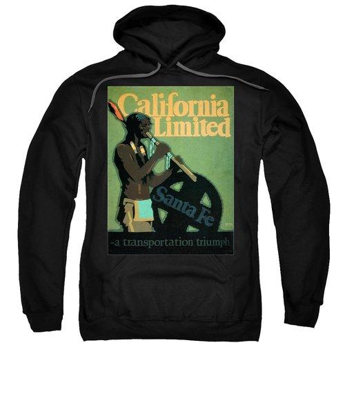 California Limited - Santa Fe - Retro Travel Poster - Vintage Poster Sweatshirt