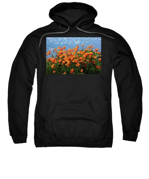 California Poppies By Richardson Bay Sweatshirt