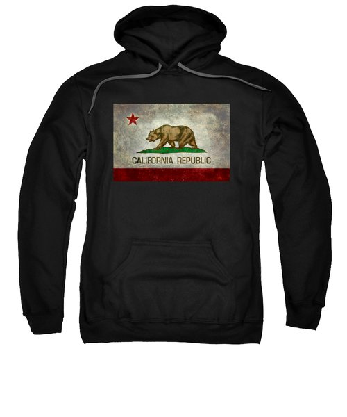 California Republic State Flag Retro Style Sweatshirt by Bruce Stanfield