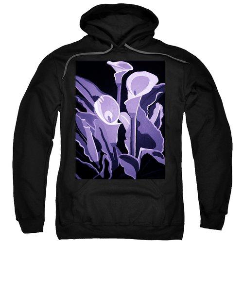 Calla Lillies Lavender Sweatshirt