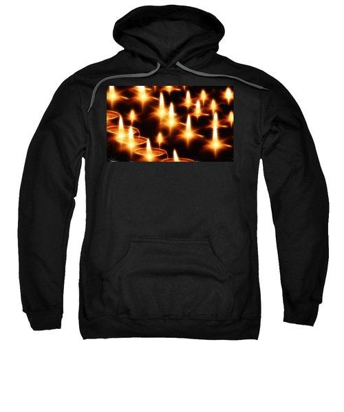 Candles Christmas Card Sweatshirt by Bellesouth Studio