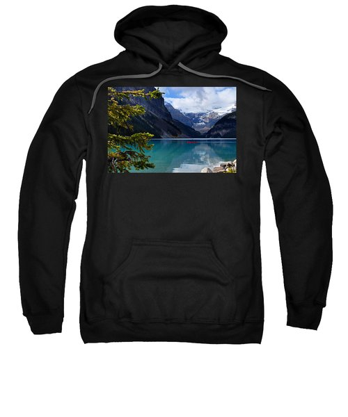 Canoe On Lake Louise Sweatshirt