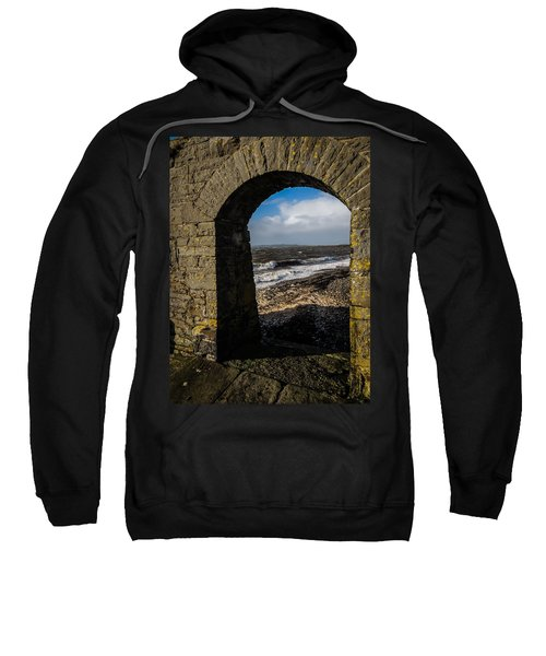 Sweatshirt featuring the photograph Cappagh Pier And Ireland's Shannon Estuary by James Truett